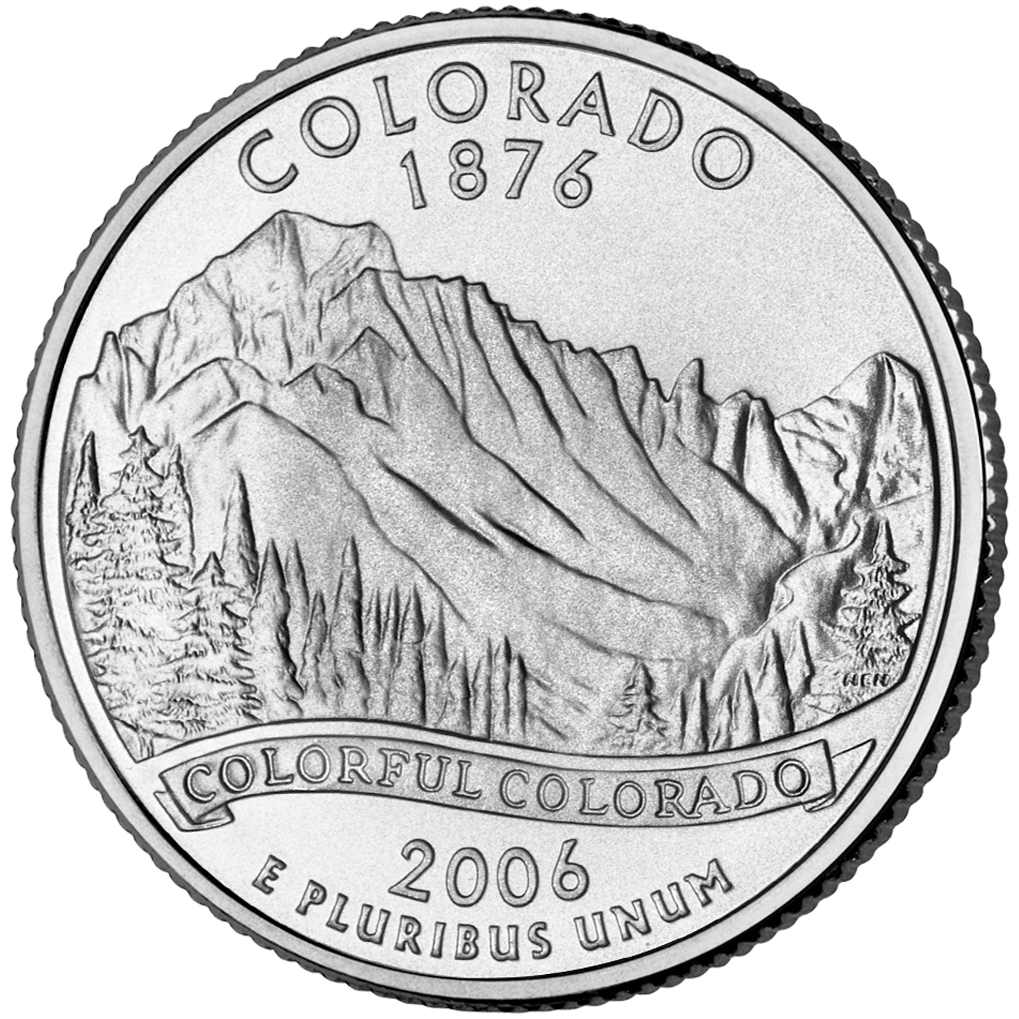 2006 50 State Quarters Coin Colorado Uncirculated Reverse