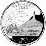 2006 50 State Quarters Coin Nebraska Proof Reverse