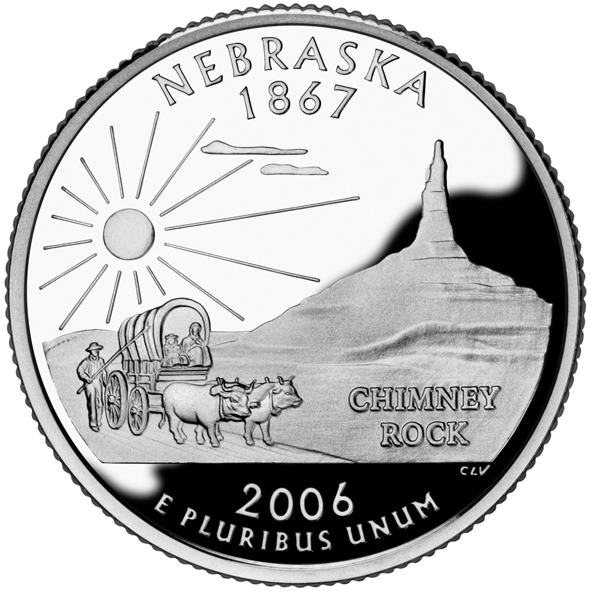 2006 50 State Quarters Coin Nebraska Proof Reverse