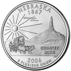 2006 50 State Quarters Coin Nebraska Uncirculated Reverse