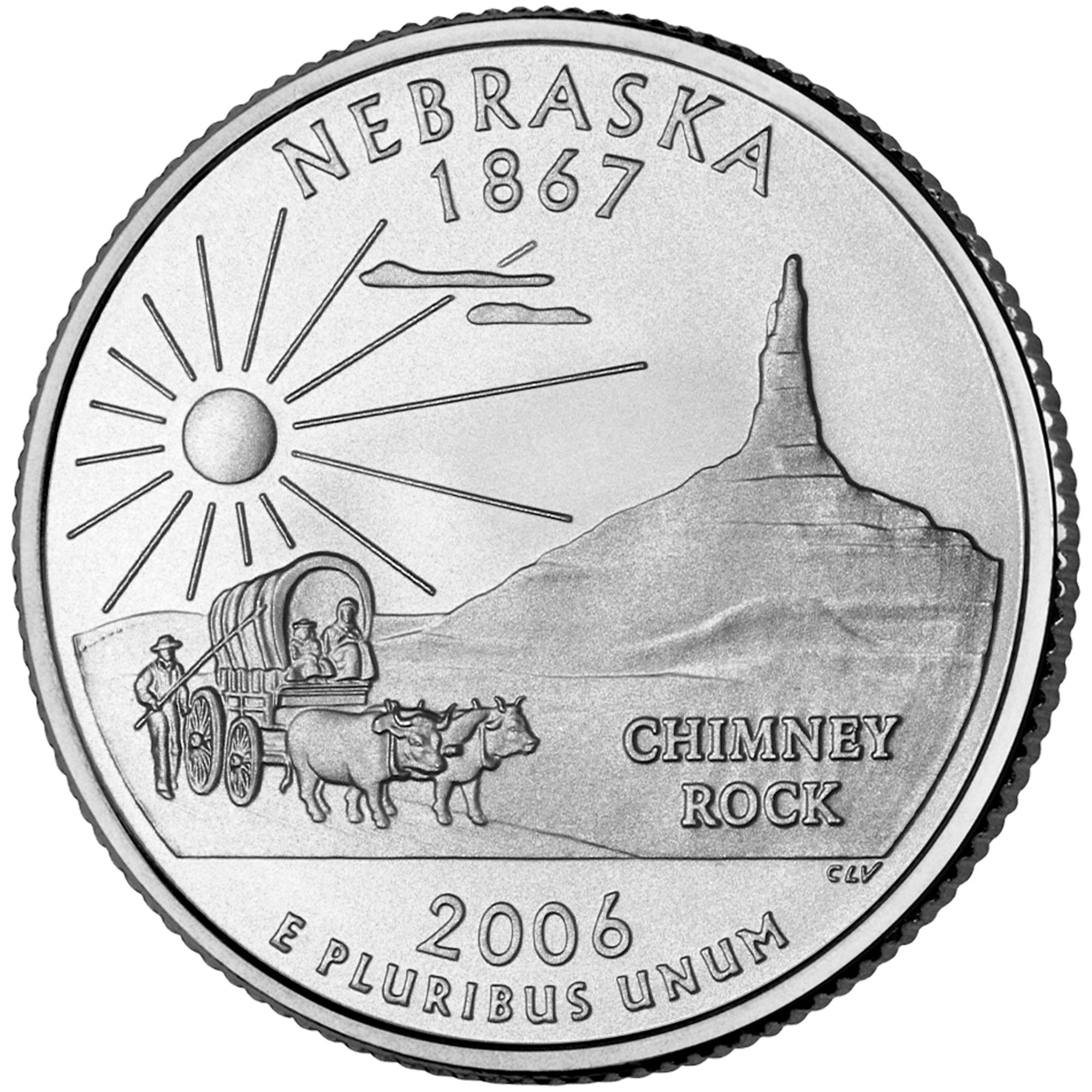2006 50 State Quarters Coin Nebraska Uncirculated Reverse