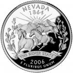 2006 50 State Quarters Coin Nevada Proof Reverse