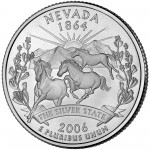 2006 50 State Quarters Coin Nevada Uncirculated Reverse