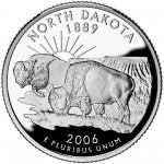 2006 50 State Quarters Coin North Dakota Proof Reverse