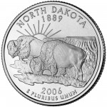 2006 50 State Quarters Coin North Dakota Uncirculated Reverse