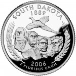 2006 50 State Quarters Coin South Dakota Proof Reverse
