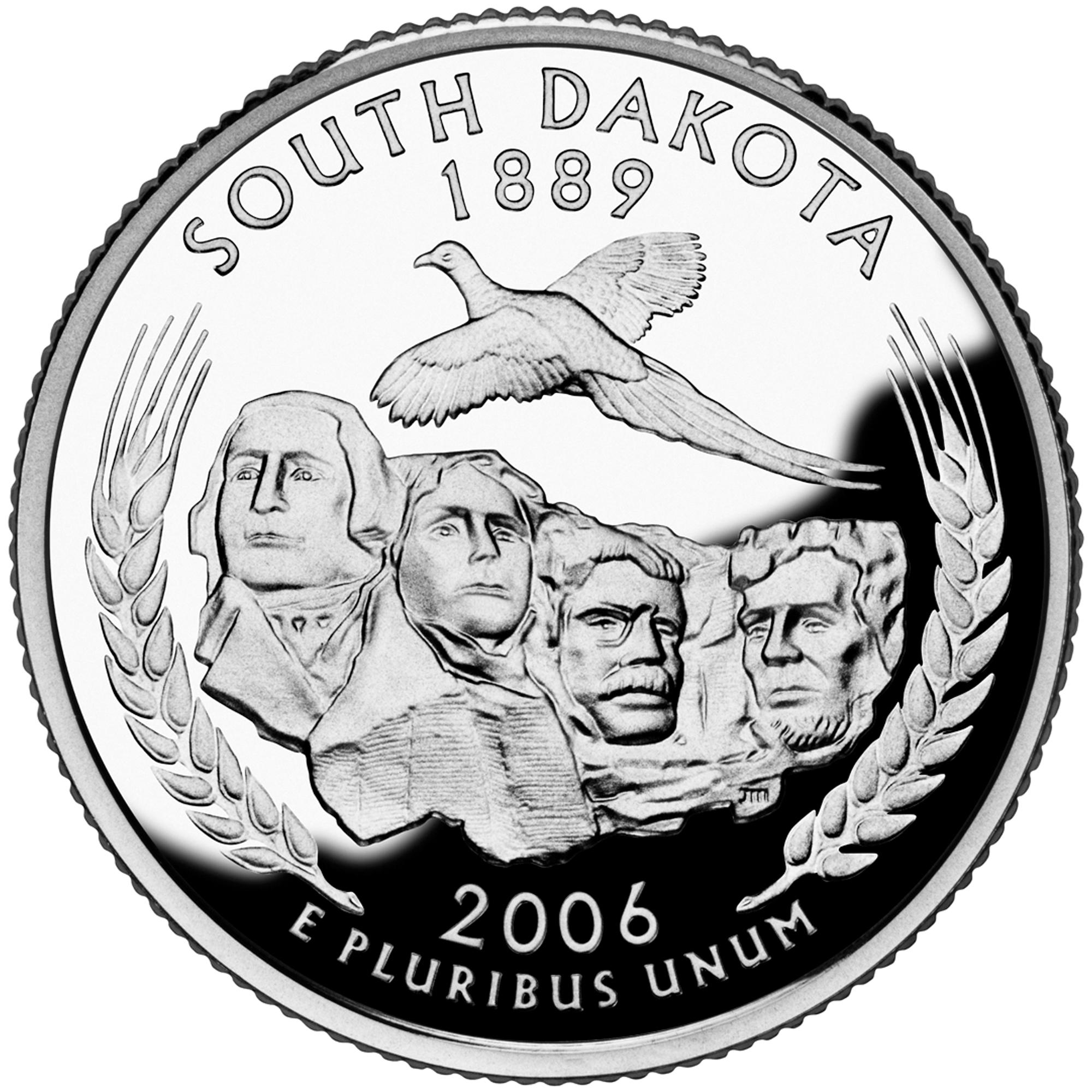 2006 50 State Quarters Coin South Dakota Proof Reverse