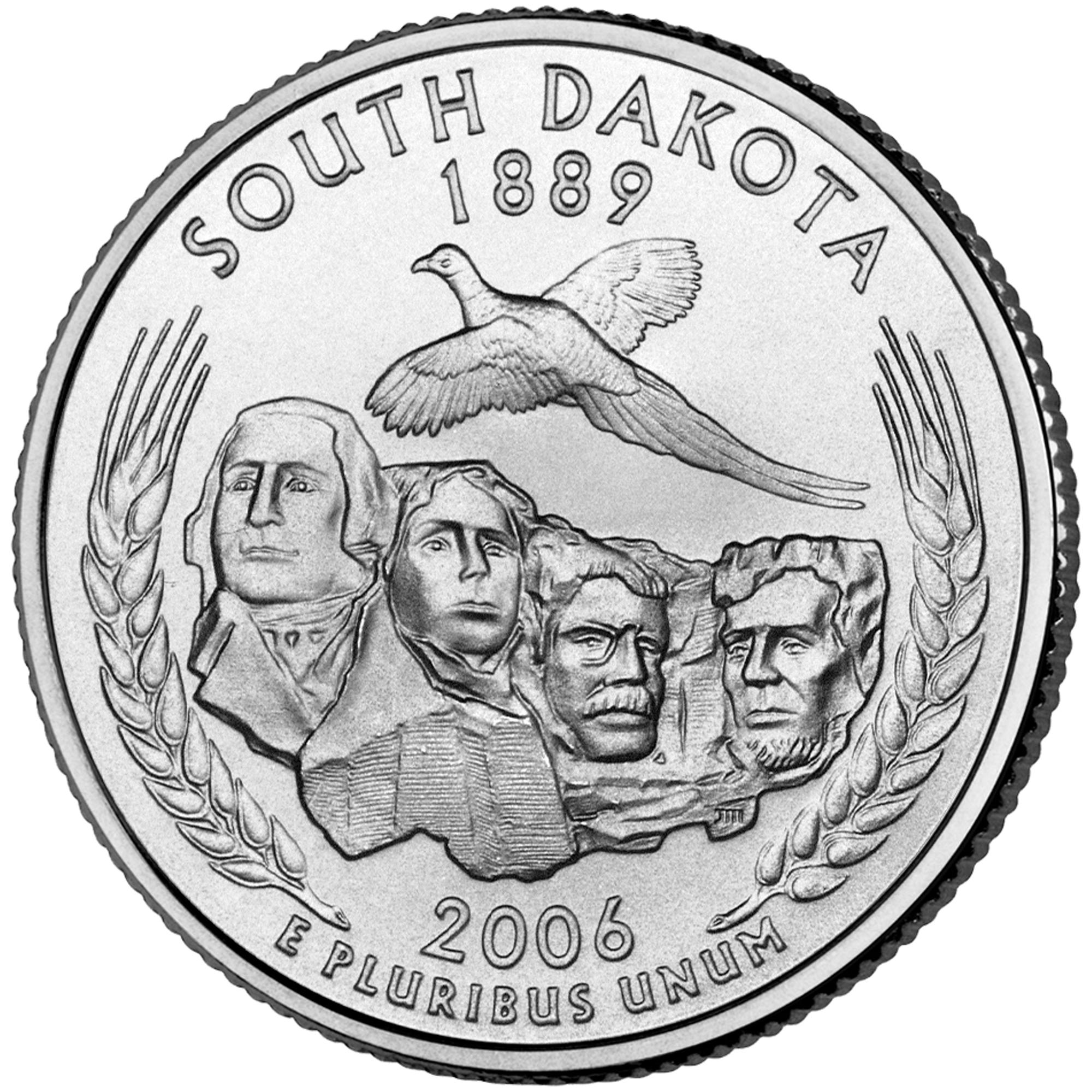 2006 50 State Quarters Coin South Dakota Uncirculated Reverse