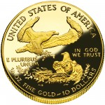 2006 American Eagle Gold Quarter Ounce Proof Coin Reverse