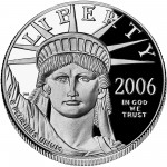 2006 American Eagle Platinum One Ounce Proof Coin Obverse