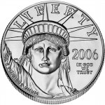2006 American Eagle Platinum One Ounce Uncirculated Coin Obverse