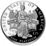 2006 American Eagle Platinum Quarter Ounce Proof Coin Reverse