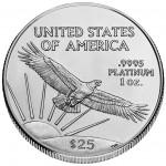 2006 American Eagle Platinum Quarterounce Bullion Coin Reverse