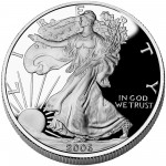 2006 American Eagle Silver One Ounce Proof Coin Obverse