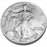 2006 American Eagle Silver One Ounce Uncirculated Coin Obverse