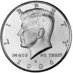 2006 Kennedy Half Dollar Uncirculated Obverse Denver