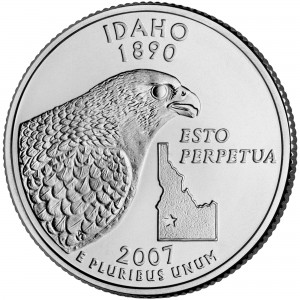 2007 50 State Quarters Coin Idaho Uncirculated Reverse