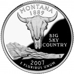 2007 50 State Quarters Coin Montana Proof Reverse
