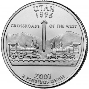 2007 50 State Quarters Coin Utah Uncirculated Reverse