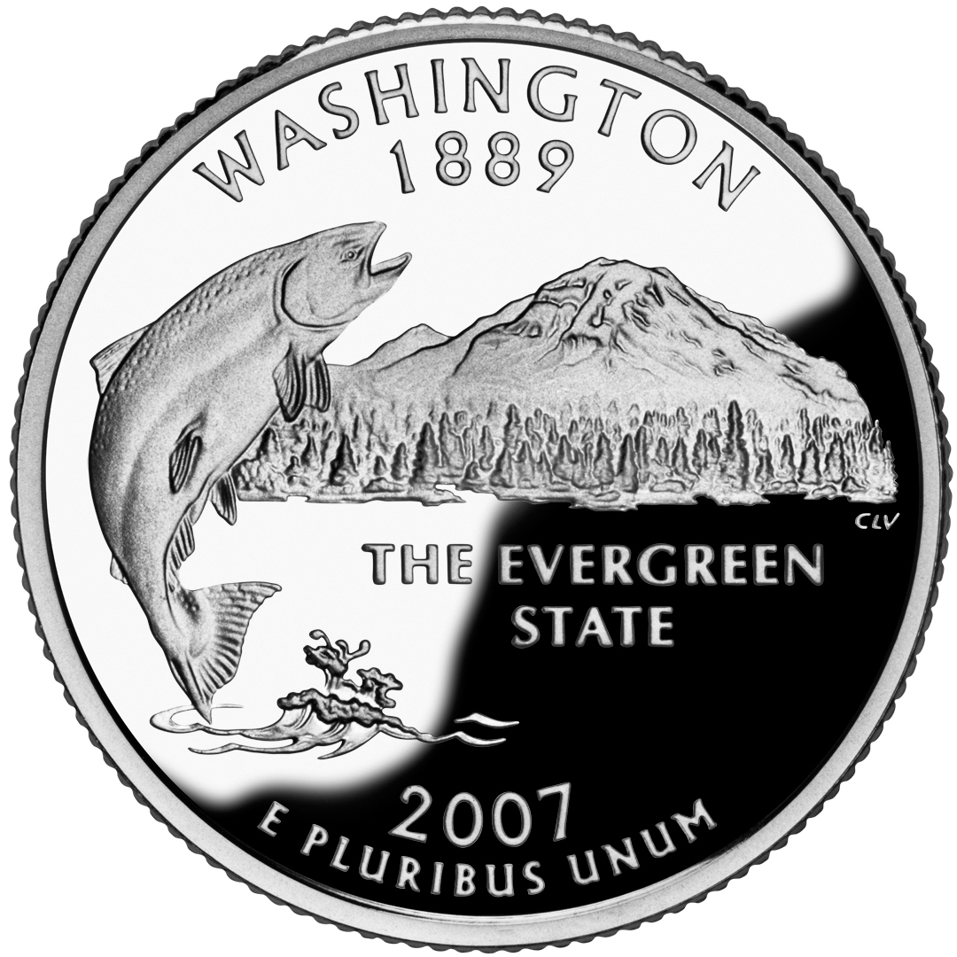 2007 50 State Quarters Coin Washington Proof Reverse