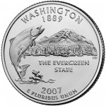 2007 50 State Quarters Coin Washington Uncirculated Reverse