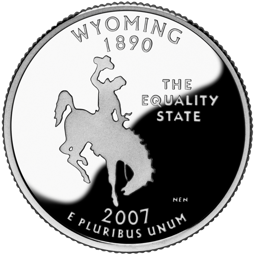 2007 50 State Quarters Coin Wyoming Proof Reverse
