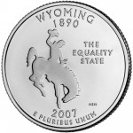 2007 50 State Quarters Coin Wyoming Uncirculated Reverse