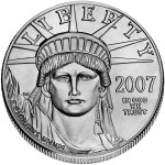 2007 American Eagle Platinum One Ounce Bullion Coin Obverse