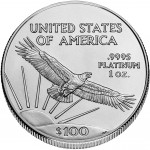 2007 American Eagle Platinum One Ounce Bullion Coin Reverse
