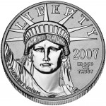 2007 American Eagle Platinum One Ounce Enhanced Reverse Proof Coin Obverse