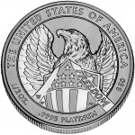 2007 American Eagle Platinum One Ounce Enhanced Reverse Proof Coin Reverse