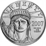 2007 American Eagle Platinum One Ounce Uncirculated Coin Obverse