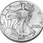 2007 American Eagle Silver One Ounce Bullion Coin Obverse