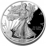 2007 American Eagle Silver One Ounce Proof Coin Obverse
