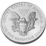 2007 American Eagle Silver One Ounce Uncirculated Coin Reverse