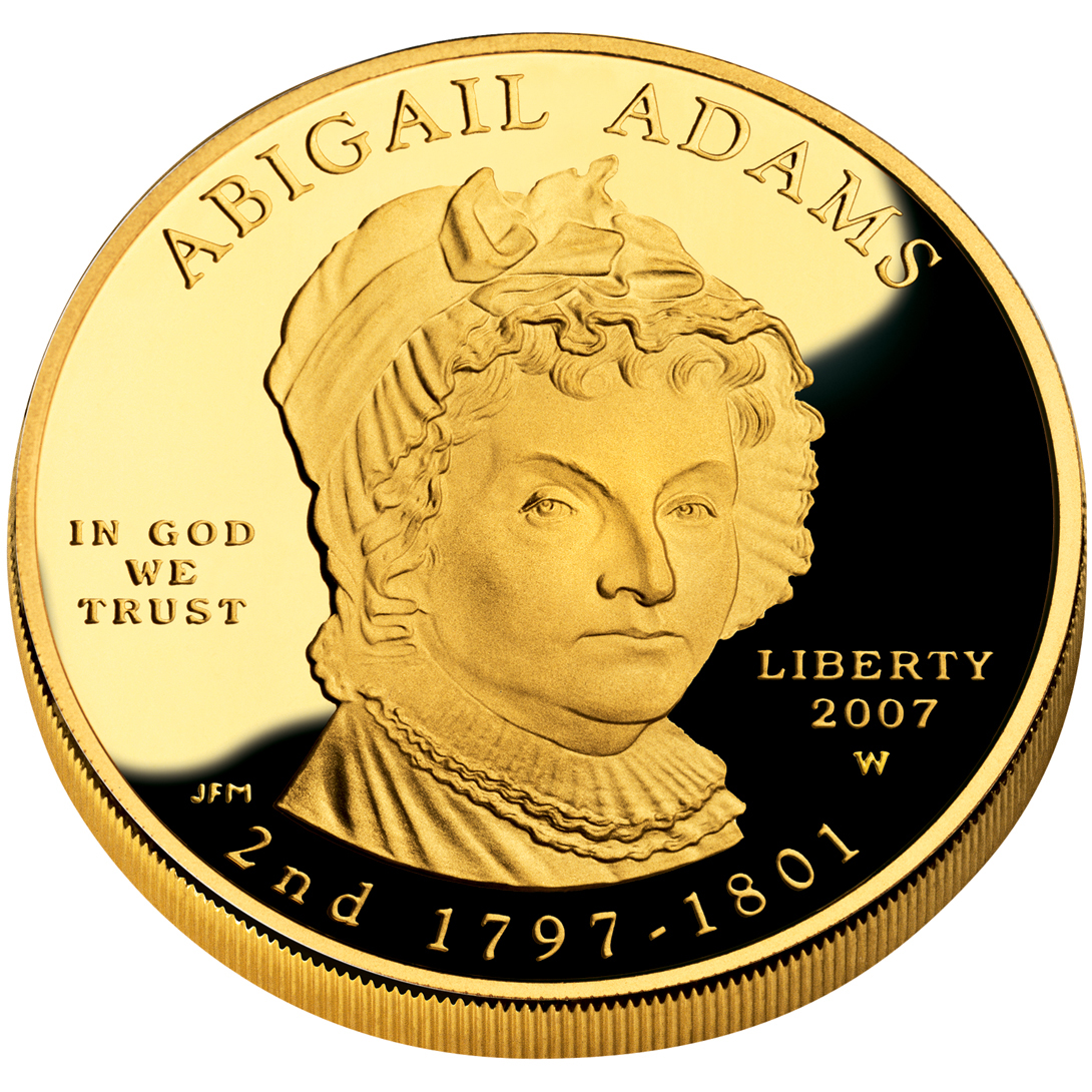 2007 First Spouse Gold Coin Abigail Adams Proof Obverse