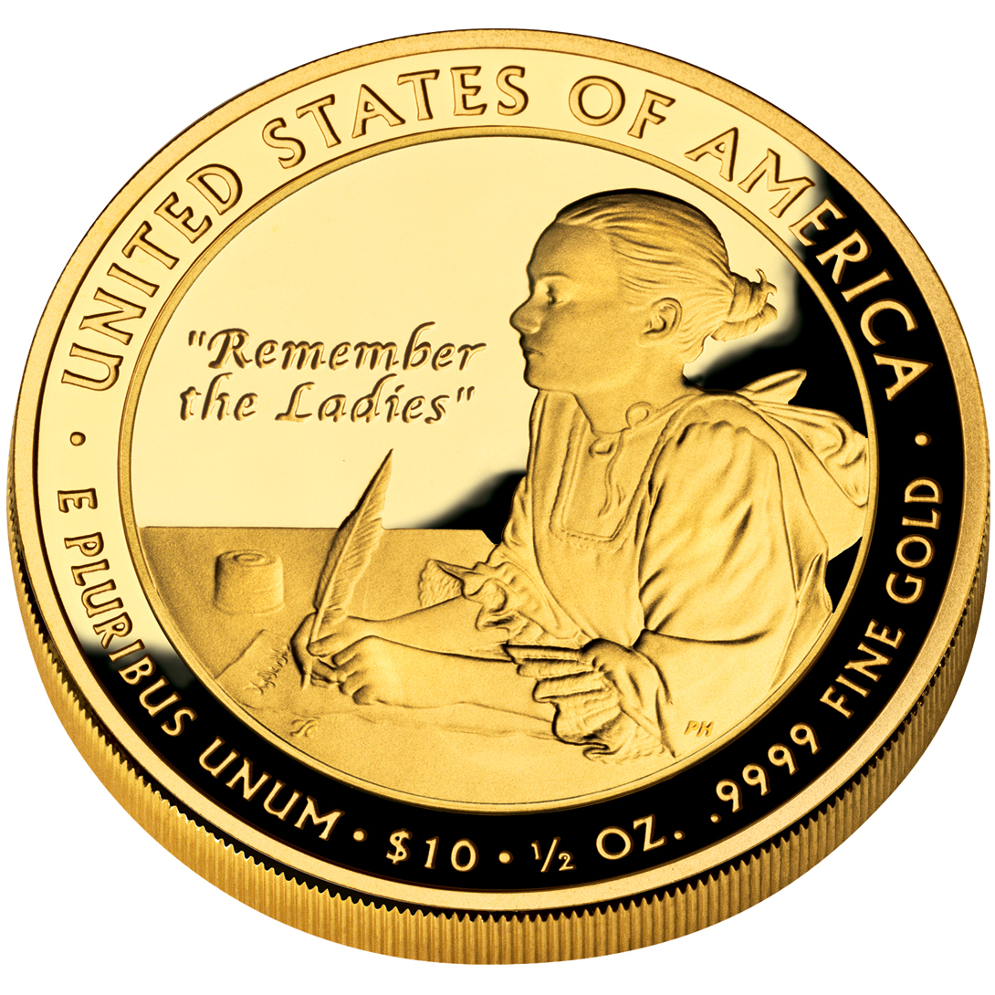 2007 First Spouse Gold Coin Abigail Adams Proof Reverse