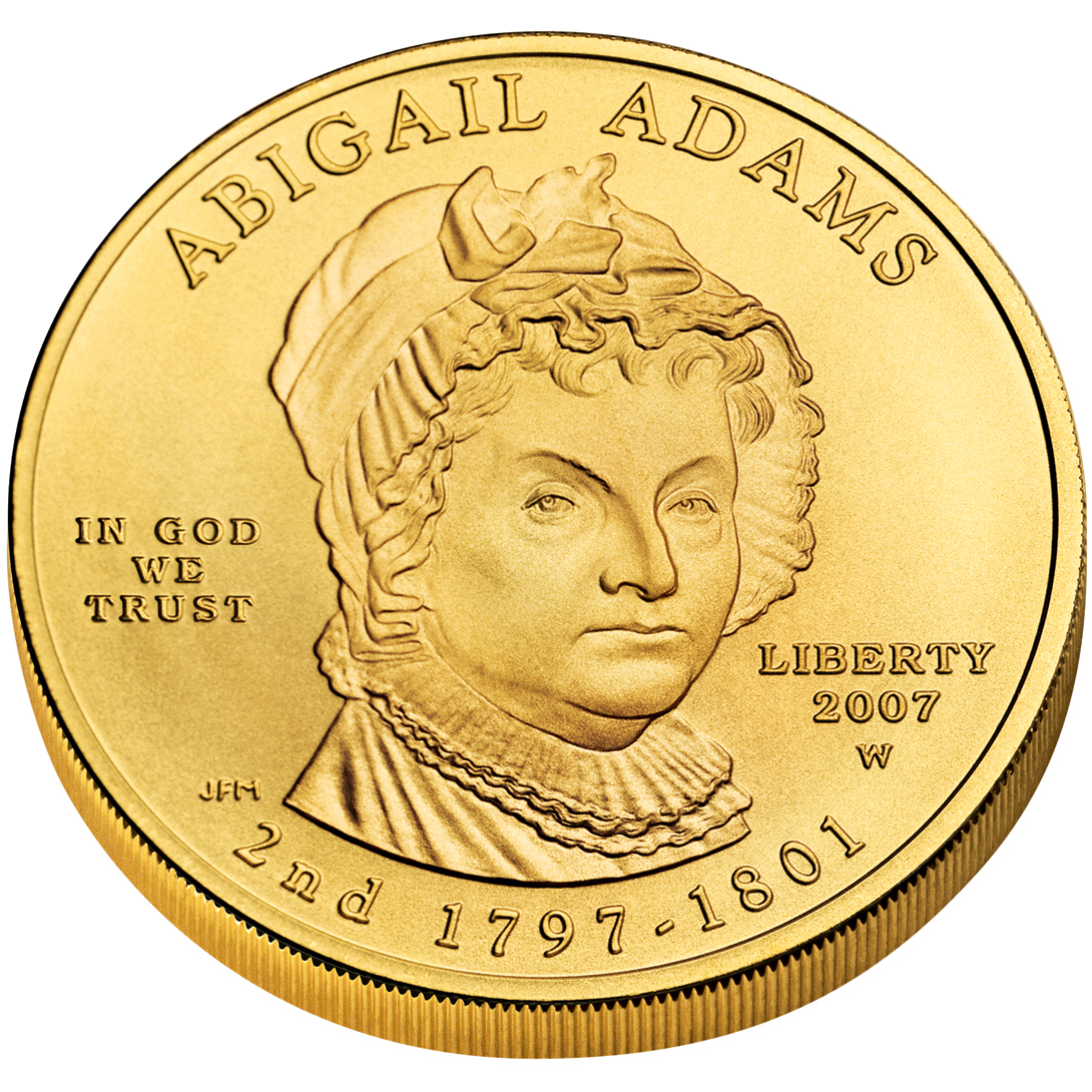 2007 First Spouse Gold Coin Abigail Adams Uncirculated Obverse