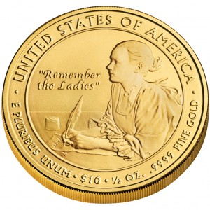 2007 First Spouse Gold Coin Abigail Adams Uncirculated Reverse