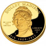 2007 First Spouse Gold Coin Dolley Madison Proof Obverse