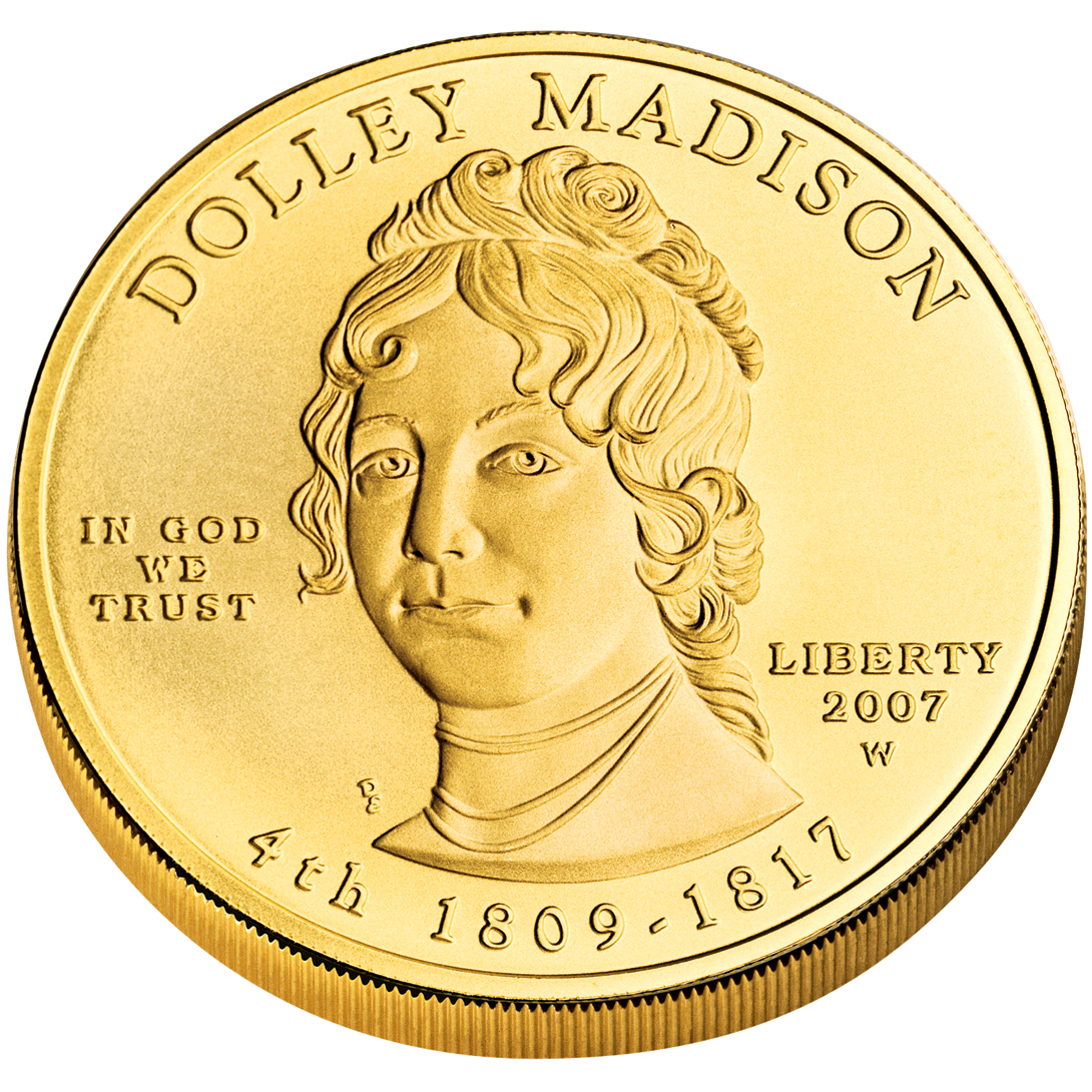 2007 First Spouse Gold Coin Dolley Madison Uncirculated Obverse