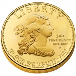 2007 First Spouse Gold Coin Jefferson Liberty Uncirculated Obverse
