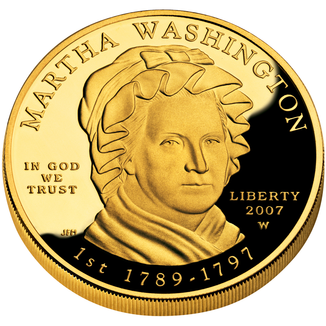 2007 First Spouse Gold Coin Martha Washington Proof Obverse