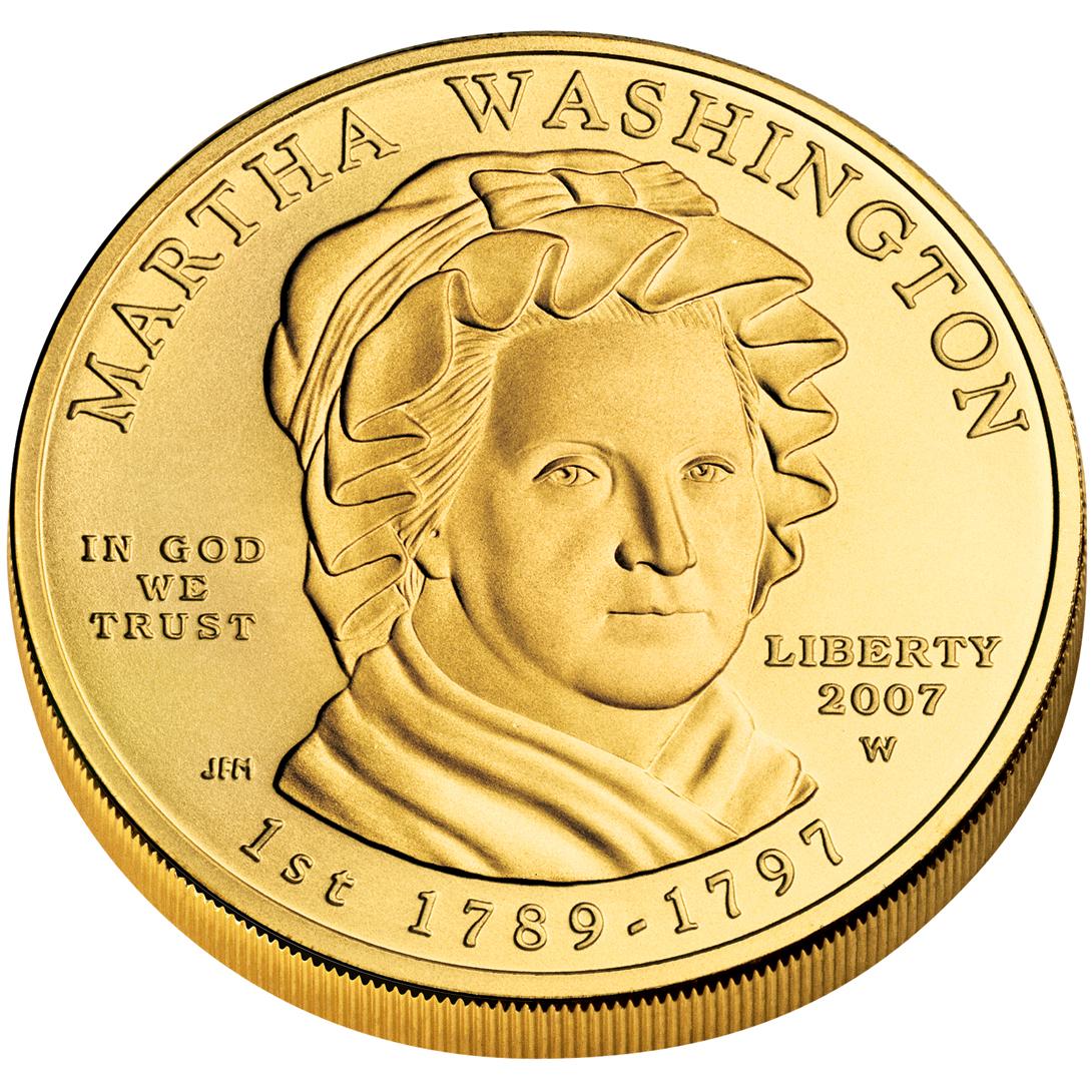2007 First Spouse Gold Coin Martha Washington Uncirculated Obverse