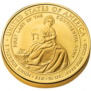2007 First Spouse Gold Coin Martha Washington Uncirculated Reverse