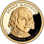 2007 Presidential Dollar Coin James Madison Proof Obverse