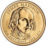 2007 Presidential Dollar Coin James Madison Uncirculated Obverse