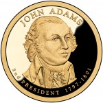 2007 Presidential Dollar Coin John Adams Proof Obverse