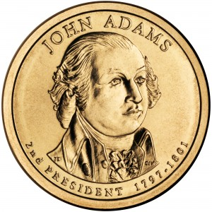 2007 Presidential Dollar Coin John Adams Uncirculated Obverse