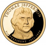 2007 Presidential Dollar Coin Thomas Jefferson Proof Obverse